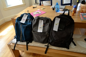 Here are the backpacks we in no way made.
