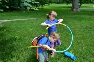 Hula hoop = trigger point
