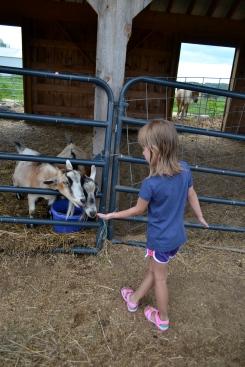 "Nailing her ""feeding livestock"" pose."