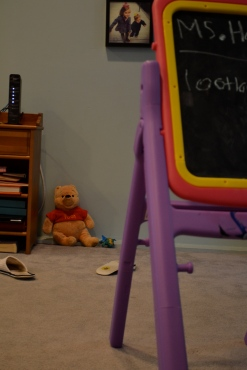 A lot of kids got put in the Quiet Corner at school, including Pooh Bear and a Happy Meal toy.