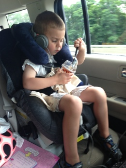 Tip: Don't give your kids McDonald's hot fudge sundaes in the car.