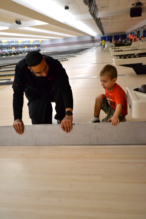 George's favorite part of bowling by far.