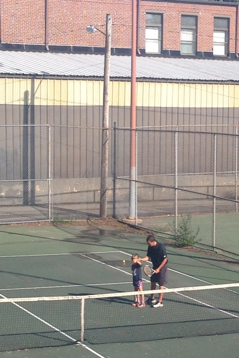 Here's hoping Hazy inherited Opa's tennis skills genes but not our family's McEnroe-esque tennis temper genes.