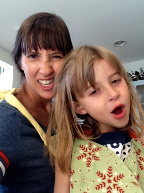 It takes two tough girls to make a tender carrot-zucchini bar?