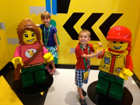 There are giant Lego people!
