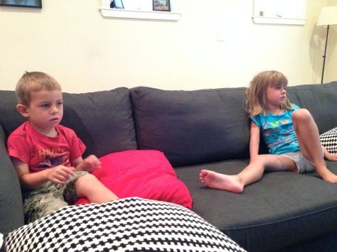 We each picked something to watch. George picked Thomas, Hazy picked My Little Pony, and I picked Annie (the original).