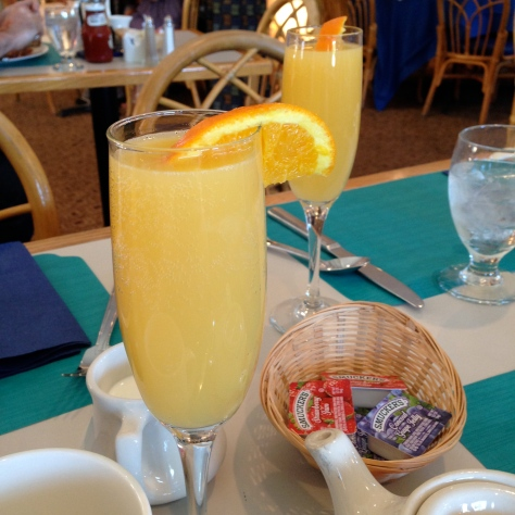I know I said I can't handle day drinking, but mimosas are different, especially complimentary mimosas.