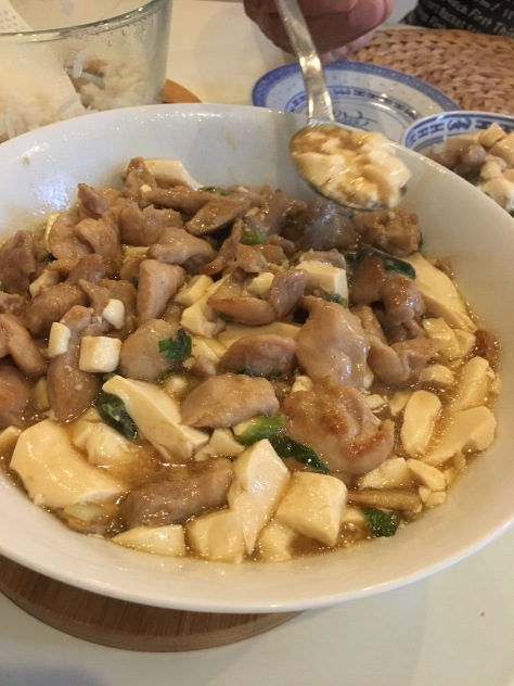 Tofu and chicken