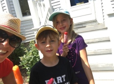 These poor kids can't eat a GD popsicle without me making them take a selfie. Whatever, guess who buys them those popsicles?